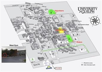 Tour de Guelph Location Map